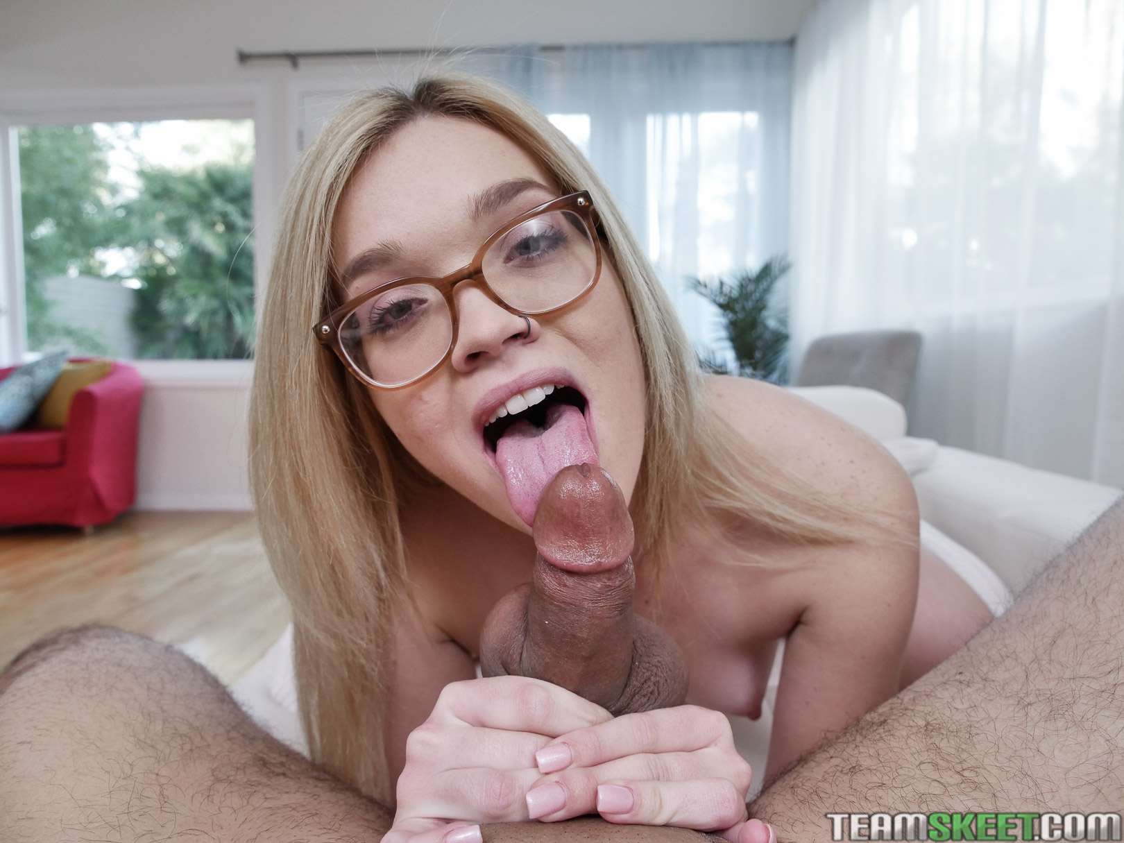 Blonde Teen Sucks Dick Pov